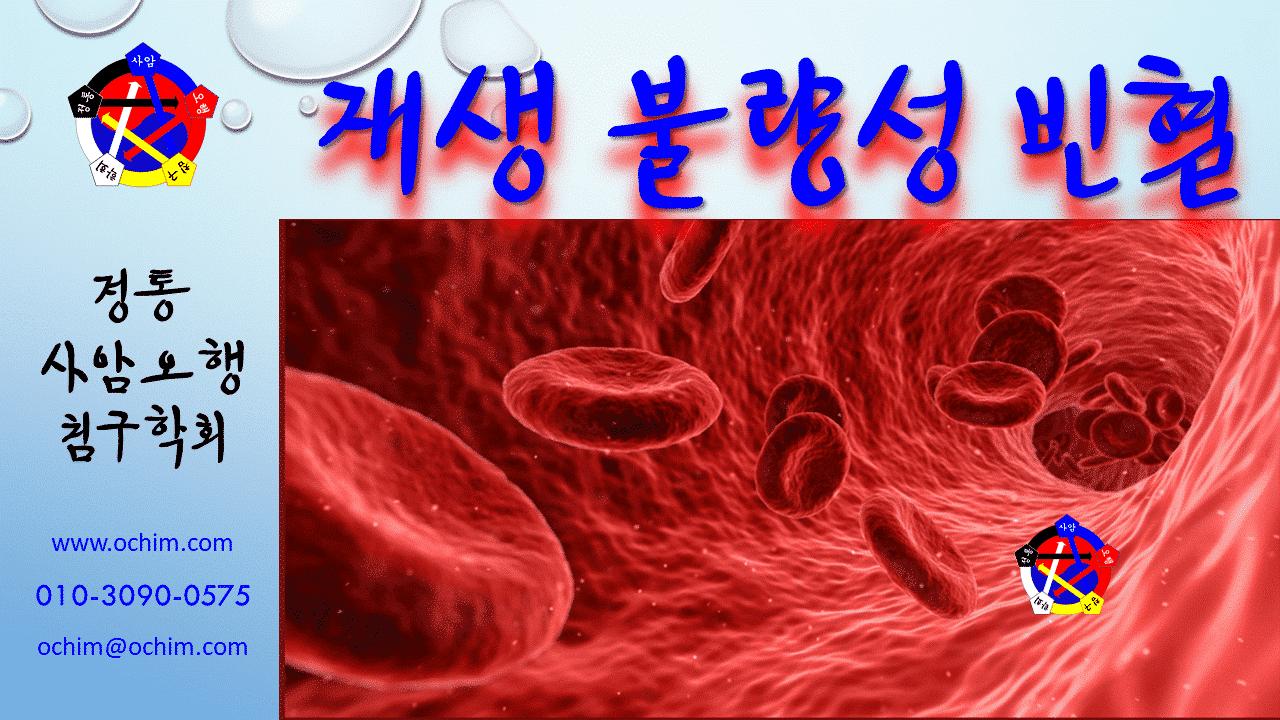사암침, 사암침법 - 재생불량성 빈혈 치료 방법 - 비과학적 양의학 105